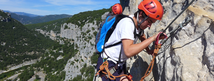 faire la via ferrata du Thaurac 01
