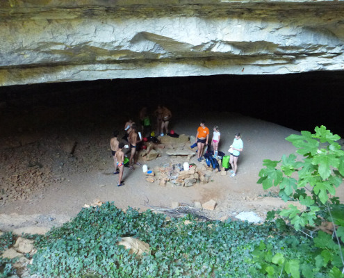 Bivouac en grotte dans les Cévennes
