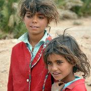 Enfants du désert saharien